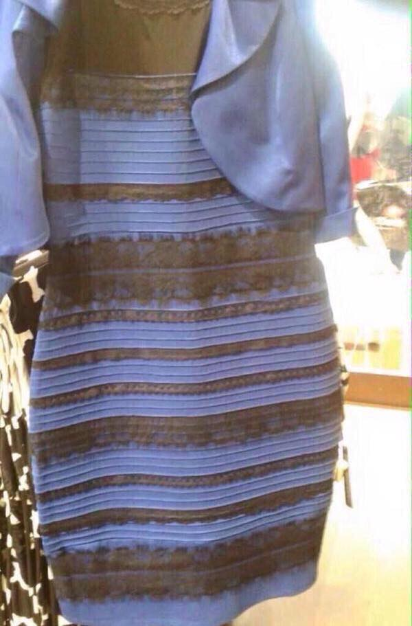 the dress black and blue
