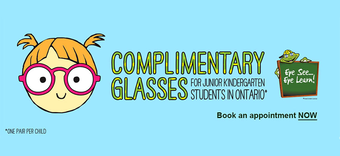 Free Glasses for Kids in Junior Kindergarten